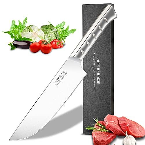 ANTINIVES Couteau de Chef, 20 cm Couteau Cuisine Professionnels - Acier Inoxydable à Haute Teneur en Carbone - Extrêmement Tranchant - Idéal pour la Cuisine à Domicile et Restaurant