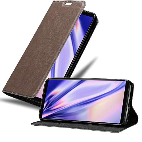 Cadorabo Book Case Works with Xiaomi Mi Max 3 in Coffee Brown – with Magnetic Closure, Stand Function and Card Slot – Wallet Etui Cover Pouch PU Leather Flip
