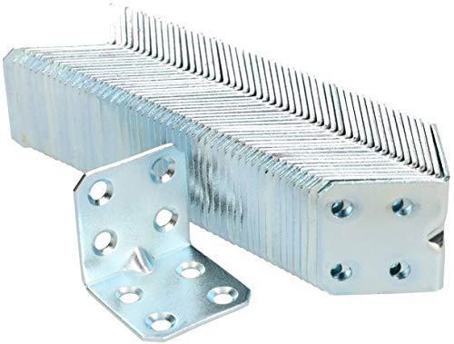 KOTARBAU Winkelverbinder 30 x 30 x 30 x 1,5 mm mit Sicke Stahl Bauwinkel Montagelöcher Möbelverbinder Verzinkt Schwerlast Holzverbinder Montagewinkel (100)
