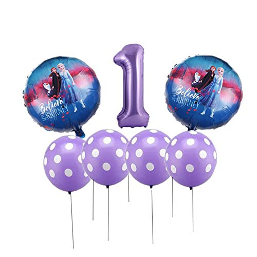 Yinyimei Balloon 7pcs / set Cake Slide Number Balloons Baby Shower Birthday Party Decorations Children Classic Toy Gift (Farbe : Mint Grün)