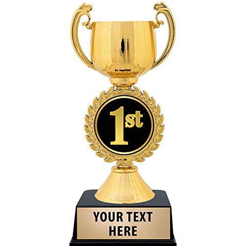 Silver and Gold Metal Cup Trophy with Custom Engraving Prime Crown Awards 12.5 Accolade Cup Trophies