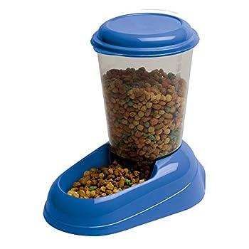Ferplast Distributeur de Nourriture Sèche, Croquettes pour Chats et Chiens 3 Litres Zenith Mangeoire Pratique,20,2 X 29,2 X H 28,8 cm Bleu