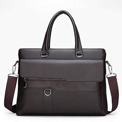 Getrichar Men's Exquisite Fashion Simple Briefcase Handbag Shoulder Bag Messenger Bag Business Office Men's Bag (Color : Brown, Size : 38 * 6 * 29 * 14cm)