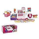 Homespired Juguete para niños hasta la caja registradora educativa de fingir jugar compras de alimentos y supermercado juguetes con luces y sonidos interactivos juguete