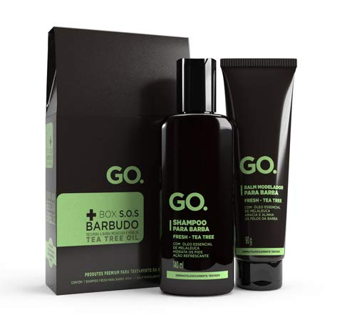 GO. Kit Shampoo + Balm Modelador, Tea Tree