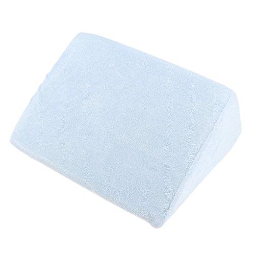 Keilkissen Matratzen Matratzenkeil Matratzenerhöhung Hochlagerungskeil fürs Bett - Blau, 30 cm
