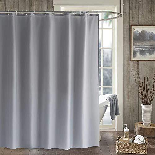 "UDENSICA Shower Curtain for Bathroom,Modern Home Hotel Bathroom Decorations,Polyester Shower Curtain,Waterproof Heavy Duty Shower Curtain,54"" W x 78"" H-Gray-90g"