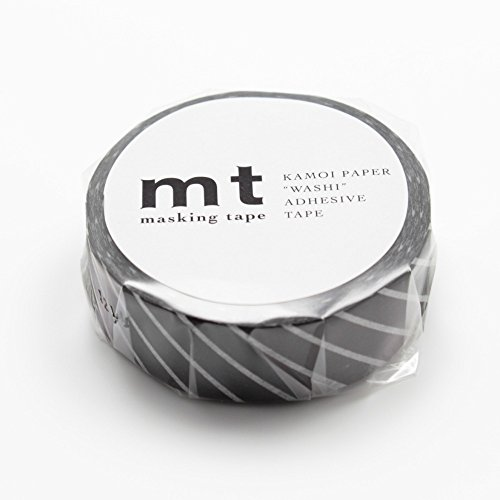 MT Washi Masking Tape Stripe Black (MT01D153)