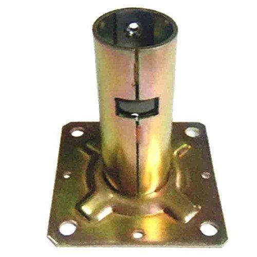 【5個入】 単管ベース ワンタッチ固定ベース 31.8用 J-1107 単管パイプジョイントベース J販 代不