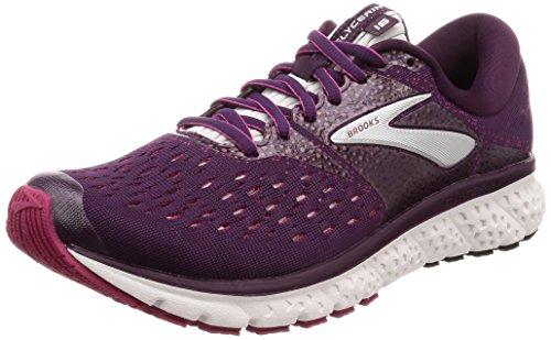 Brooks Womens Glycerin 16 Running Shoe - Purple/Pink/Grey - B - 6.5