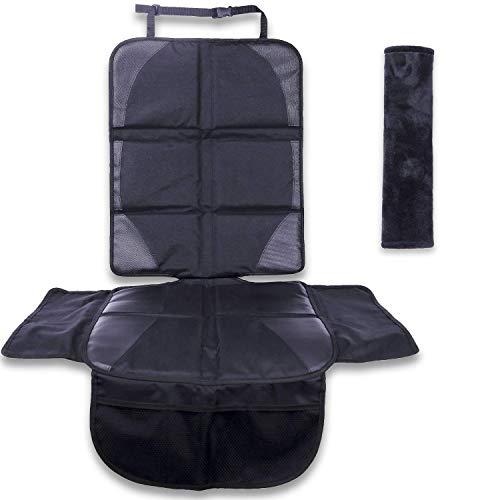 LOOMEX Autositzschoner für Kindersitz - wasserabweisende, rutschfeste Kindersitzunterlage für das Auto - Isofix geeignet & extra breit