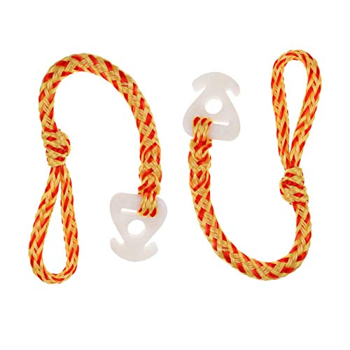MHCT Boat Tow Rope Tube Towable Rope Quick Connector with Solid Super Hard Resin Connector, Water Towable Tubes Rope Connector for Tubing Skiing Wake Boarding Wave Runner Seadoo (Red-Yellow Ripples)