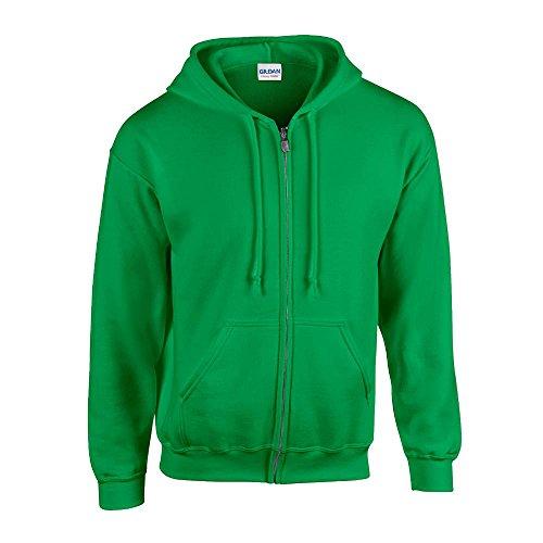 Gildan mens Heavy Blend 8 oz. 50/50 Full-Zip Hood(G186)-IRISH GREEN-2XL