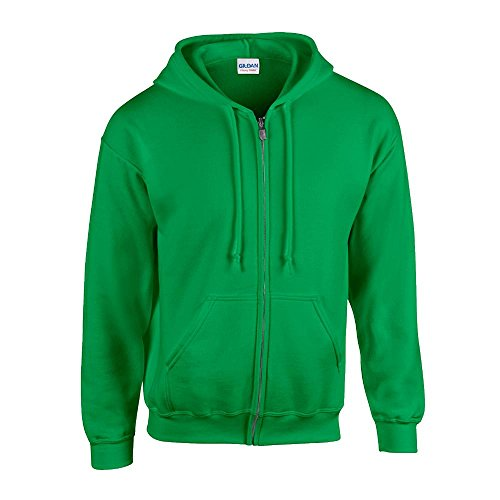 Gildan mens Heavy Blend 8 oz. 50/50 Full-Zip Hood(G186)-IRISH GREEN-5XL