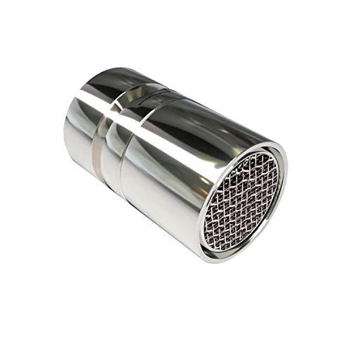 Wasserhahn-Luftsprudler, 360-Grad-drehbarer Schwenkkopf, Wassersparender Siebstrahlregler, Wasserhahnaufsatz, Doppelfunktional Mischdüse, geeignet für Bad, 22 mm Innengewinde (FM22)