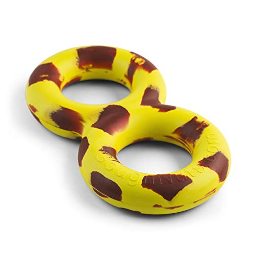 Goughnuts - Virtually Indestructible Dog Pull Toy for Tug of War with Large Dogs 30-70 Pounds with - TuG Original Yellow
