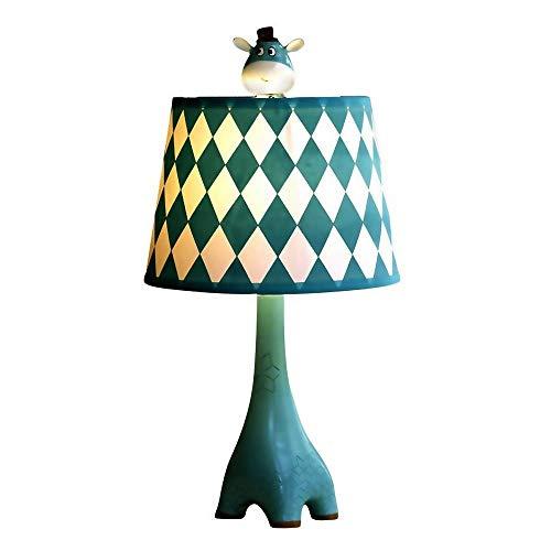 Giraffe Blue decoratieve tafellamp, Cute Slaapkamer Cartoon Nachtkastje Lamp, Pattern Diamond, Gift van de jongen meisje, for Bedroom Living Room