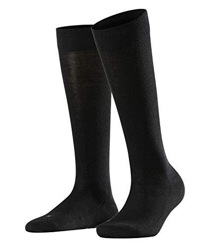 FALKE Damen Kniestrümpfe Sensitive London - 94prozent Baumwolle, 1 Paar, Schwarz (Black 3009), Größe: 35-38