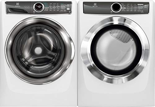 """Electrolux Island White Front Load Laundry Pair with EFLS627UIW 27"""" Washer and EFMG617SIW 27"""" Gas Dryer"""