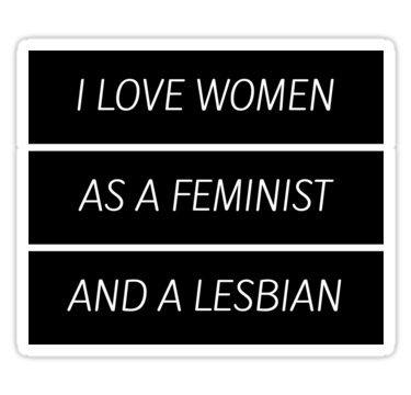 Chili Print As A Feminist Lesbian. - Sticker Graphic Bumper Window Sicker Decal - Gay Pride Sticker