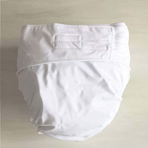 Erwachsenen-Stoffwindeln, waschbar, verstellbar, wiederverwendbares Tuch für Inkontinenzpflege-Schutzhöschen für alte Männer, geeignet für die Verwendung mit eingesetzten Windeln,A,M