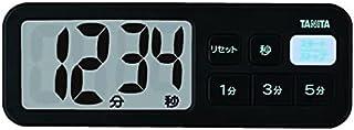 タニタ キッチン タイマー マグネット付き 大画面 100分 ブラック TD-395 BK でか見えプラスタイマー
