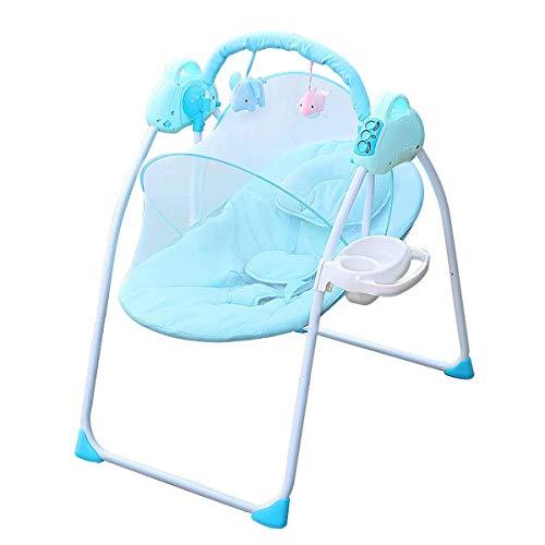 El favorito del bebé, una buena opción para que la Silla mecedora del bebé, Bebé eléctrico Swing Bour Bourcer, silla de balancín para niños pequeños con 3 velocidad ajustable y una neta de mosquitera