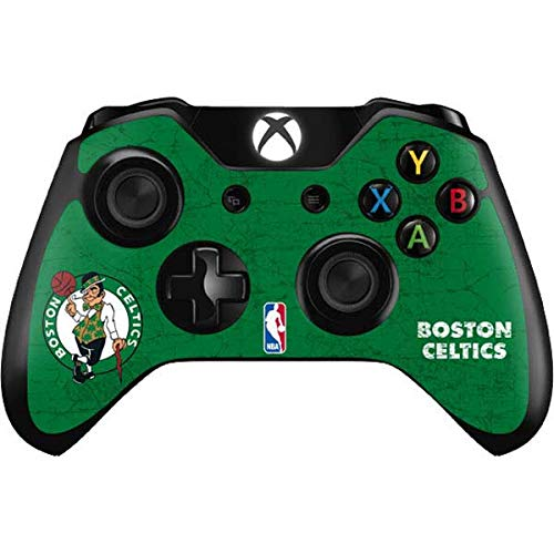 Skinit Decal Gaming Skin Compatible with Xbox One Controller - Officially Licensed NBA Boston Celtics Green Primary Logo Design