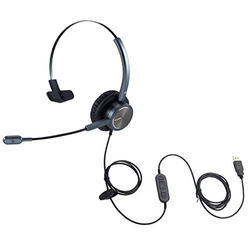 conference headsets 2 Emaiker USB Microphone Headset for PC, Laptop, Mac, Zoom,Teams Conference, Call Center Headset USB forTelemarketing Skype Dragon Voice Recognition Dictation…