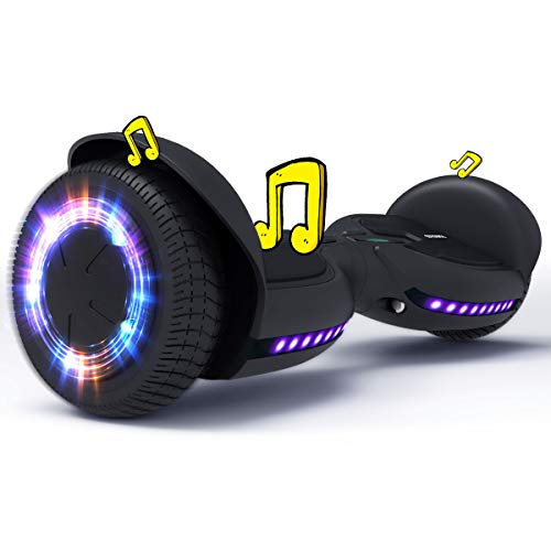 TOMOLOO Hoverboards Bluetooth with Led Light Flashing Wheels, Hover Boards for Kids, Self Balancing Hoverboard Adult