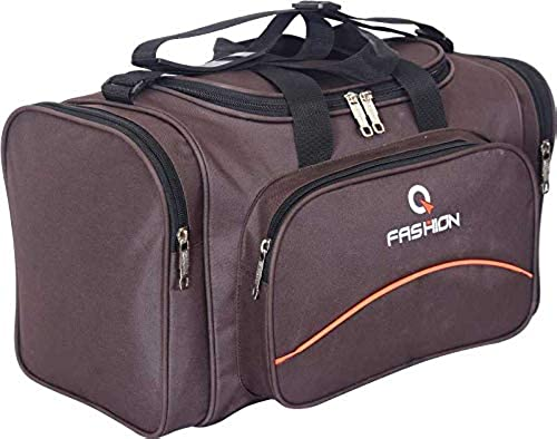 Duffles Bag Collection Lightweight Canvas 47 Litres Travel Duffel Size Brown Set Of 1 Pcs
