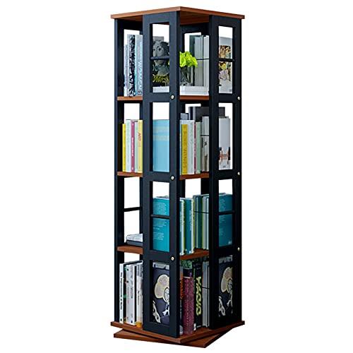 JKGHK Librerie Girevole, Librerie rettangolari, Struttura Creativa con Telaio in Acciaio Mensola Girevole a 360 °, Scaffale Multifunzionale a 4 Ripiani per casa/Ufficio/Cameretta dei Bambini