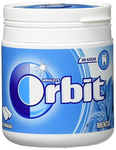Orbit Chicle sin Azúcar con Sabor A Menta, Pack de 60 Unidades