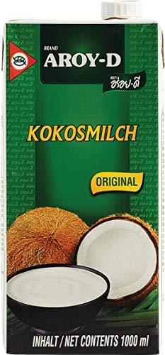 AROY-D Kokosmilch (Fettgehalt ca. 19% - mit Schraubverschluss - Ideal zum Kochen, Backen, für Desserts und Cocktails) 6er Vorteilspack à 1l