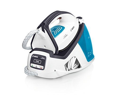 Bosch TDS4050 EasyComfort Serie | 4 Centro de planchado, 2.400 W, 5.5 bares de presión, color blanco y azul