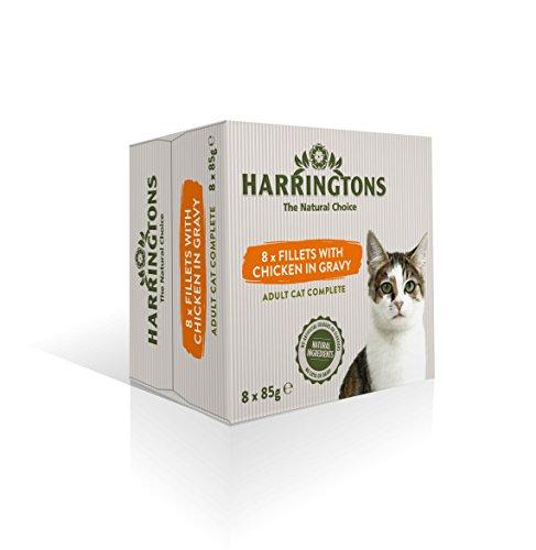 Harrington's kattenvoer, complete voering, kip met rijst, 2 kg, 4x(8x85g)