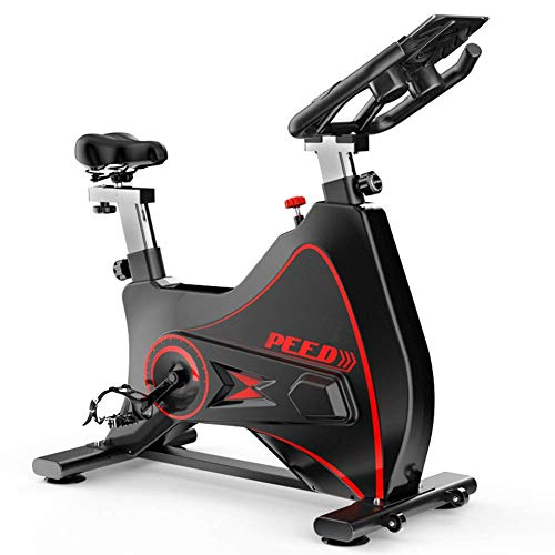 Bicicleta estática profesional para interiores, frecuencia cardíaca Bluetooth inalámbrica interactiva en vivo, volante cromado, sistema de transmisión por correa ultra silencioso, entrenador de cardi