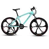 LILIS Bicicleta Montaña Bicicletas de montaña for Adultos Bici del Camino de MTB Bicicletas for Hombres y Mujeres de 26 Pulgadas Ruedas Ajustables Velocidad Doble Freno de Disco