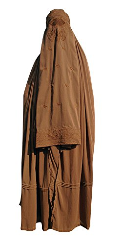 Desert Dress Authentic Damen afghanischen Burka Burka Schwarz, Blau, Rot, Braun, Weiß Jilbab Abaya Afghanistan Taliban Schleier Niqab - Free Size Coole Kaftane (Brown)