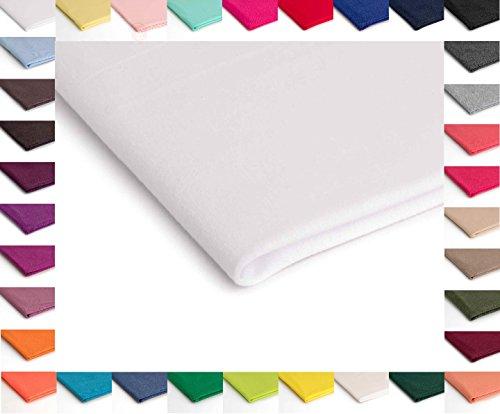 Jersey de Viscosa, Prendas de punto Polyspun - Disponible en una variedad de colores - 50 x 160 cm (Blanco Nr.1)