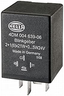 12V HELLA 4DN 009 492-101 Flasher Unit with holder