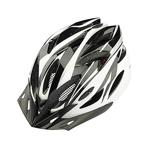 Casco de Bicicleta para Adultos con Visera extraíble y luz Trasera Cascos de Bicicleta de montaña y Carretera Ajustables para Hombres y Mujeres Adultos 22.4-24.4 Pulgadas