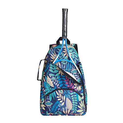 QEES Tennis Racket Bag for Women, 36L Tennis Racket Backpack, Large Capacity Tennis Sports Duffle Bag, Racket Holder Equipment Bag for Tennis, Racquetball, Squash