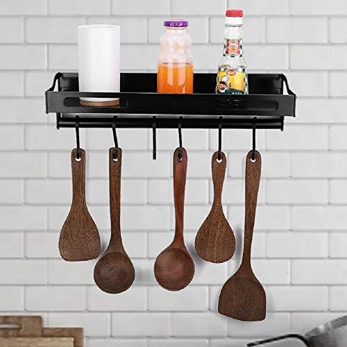 Wand-Topfgitter, Küchenregal ohne Bohren, Küchenutensilien, Wandhalterung, Küchenregal, Küchenregal für Töpfe und Pfannen 40 x 14 x 10 cm