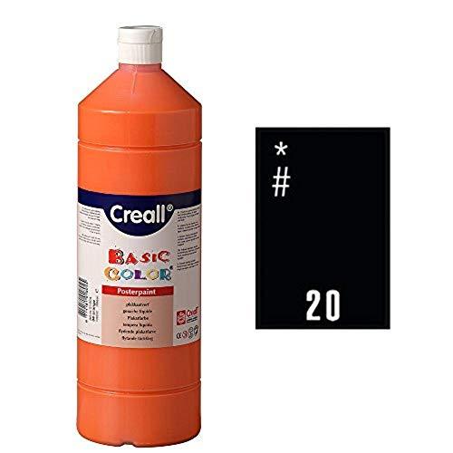 Creall havo018201000ml 20schwarz Havo Basic Farbe Poster Paint, Flasche