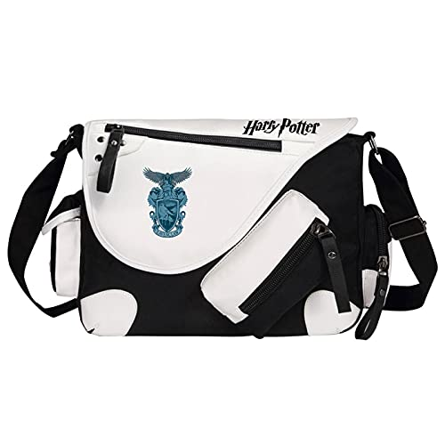 QLma Bolsa de mensajero de viaje de ocio juvenil bolso de hombro multifuncional Ravenclaw estilo retro 35x26x11cm Negro