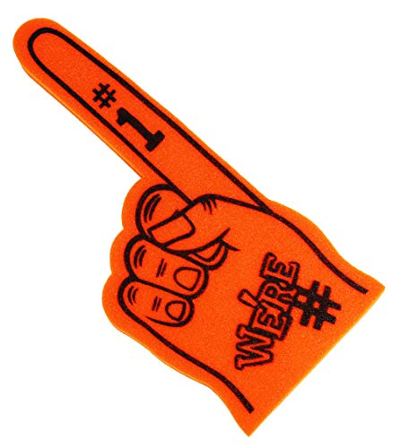 Astek We 'RE Finger Team Farbe Cheerleading Foam Hand Pompon, Orange