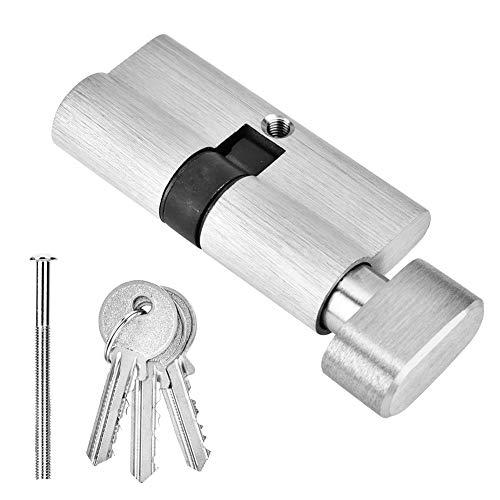 Cilindro de cerradura de puerta con llaves, cilindro de cerradura de puerta antirrobo y antirrobo de cobre abierto de 65 mm, simple abierto, adecuado para puertas de madera, puerta de aluminio