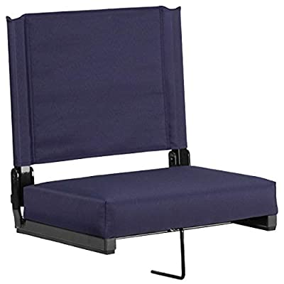 Flash Furniture Grandstand Comfort Seats by Flash with Ultra-Padded Seat in Navy