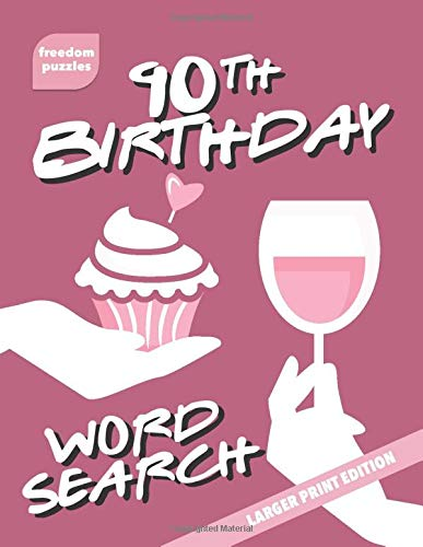Large Print Word Search Book with Birthday Themed Puzzles